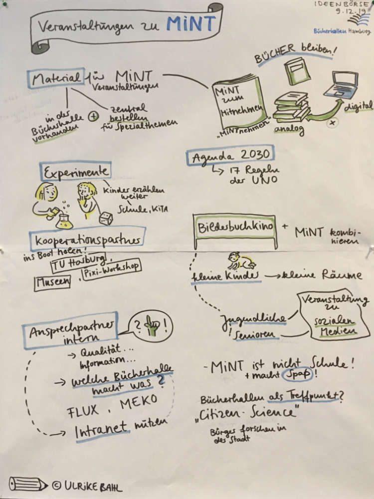 Ulrikebahl Graphicrecording Workshop MINT Veranstaltungen